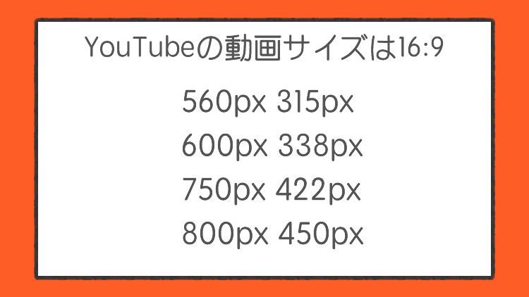 動画のサイズ